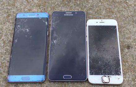 [Khả năng chịu lực]                       Galaxy Note 5 chịu lực tốt hơn Galaxy Note 7, iPhone 6s